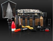 Outdoor flashlight and shovel