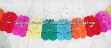 smiling face petal Tissue Paper Garland Party Decorations Rainbow 3m Paper Garland Banner Decorations Paper Chains