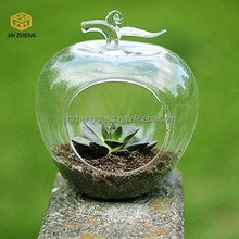 transparent glass fruit pear and apple shaped Terrarium Hanging Glass Orbs for Home Decoration Garden Accessories