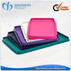 High quality custom size and color rectangle square tray kids plastic food tray