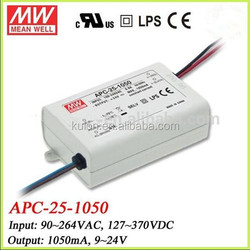 Mean Well APC-25-1050 Constant Current 1050Ma 25W LED Driver