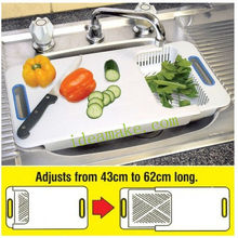 Over the Sink Chopping Board with colander and hanger