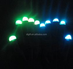 Led finger light up gloves finger toy flashing led creative fashion gloves