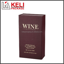 Wholesale simple design hard cardboard wine glass storage box