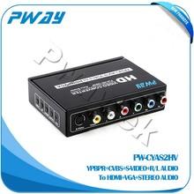 High quality YPBPR CVBS S-VIDEO To HDMI VGA fiber single mode media converter for sale