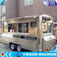 Yieson OEM Food Truck/Mobile Food Carts/Food Van Caravan fast food Vending machine Chinese food truck YS-FV450
