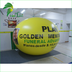 customized favorable inflatable logo printing flying balloon/cheap custom printed balloons