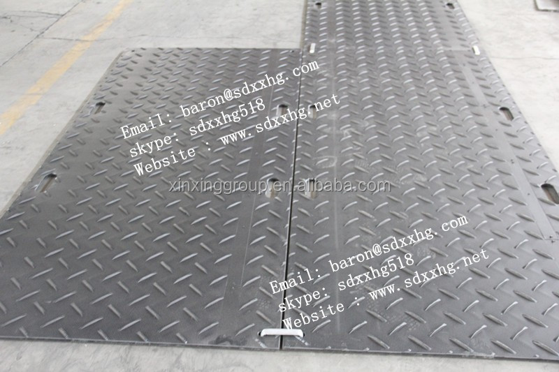 Temporary Construction Roads : Temporary hdpe road mat construction high