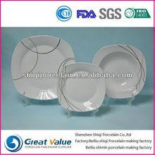 18pcs fresh square porcelain tableware coffee set
