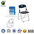 De plástico plegable de metal marco lliving sillas de la sala
