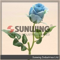 Blue Italy Rose, artificial flower arrangements for wedding, Real touch artificial flower