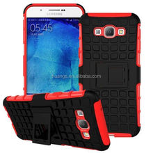 Low price china mobile phone pc tpu hybrid case with kickstand dual layer kichstand case for galaxy a8 wholesale