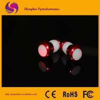 2014 Hot Bicycle Accessories Red Led Lights Decorative Lamp Bike Bar End Light
