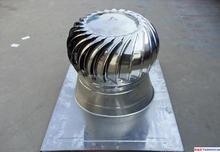 metal(ss304) roof no power industrial mushroom wind turbine vent fan