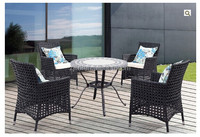 The rattan furniture and chrome and rattan furniture