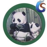 Panda design ceramic trivet with base