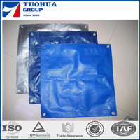 Blue/Orange Covering PE Tarpaulin, Truck Cover Plastic Canvas Tarpaulin, Waterproof Protective Poly Tarp