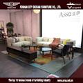 Última sala de la gama alta de cuero italiano moderno sofá