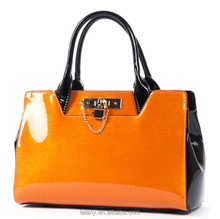 Lelany genuine leather handbags for women handbag with lock charm made in china Guangzhou