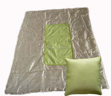 Cheap Wholesale polyester Folding Blanket Pillow 2 in 1