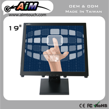 AIMTOUCH 19 inch Resistive single touch Industrial lcd monitor 1280x1024 Touch Screen Monitor Taiwan