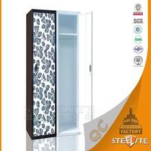 Customized Flower Image Transfer Print Modern Steel Wardrobe