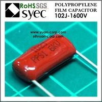1000pF 1000VDC PPN 102J 1000VDC Polypropylene Film Capacitor