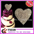 impresionante diamante corazón el amor adorno de torta de la boda decoración de aniversario