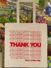 Custom natural color cheap Thank you tote shopping bag cotton