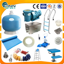 Full set pool system swimming accessories circulation, filter, light ,disinfect swimming pool equipment
