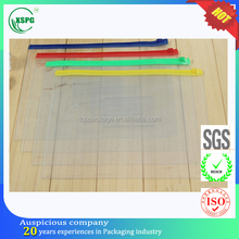 factory made custom printing zip lock pvc clear pencil pouch