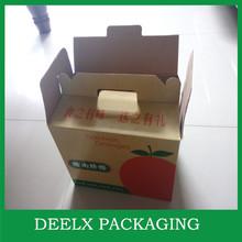 Wine Paper Box Customized Window 4 Bottle Carrier