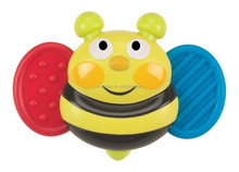 Producing bee shaped teether ,loverly and cute shaped safty natural rubber squeaking baby soft toy