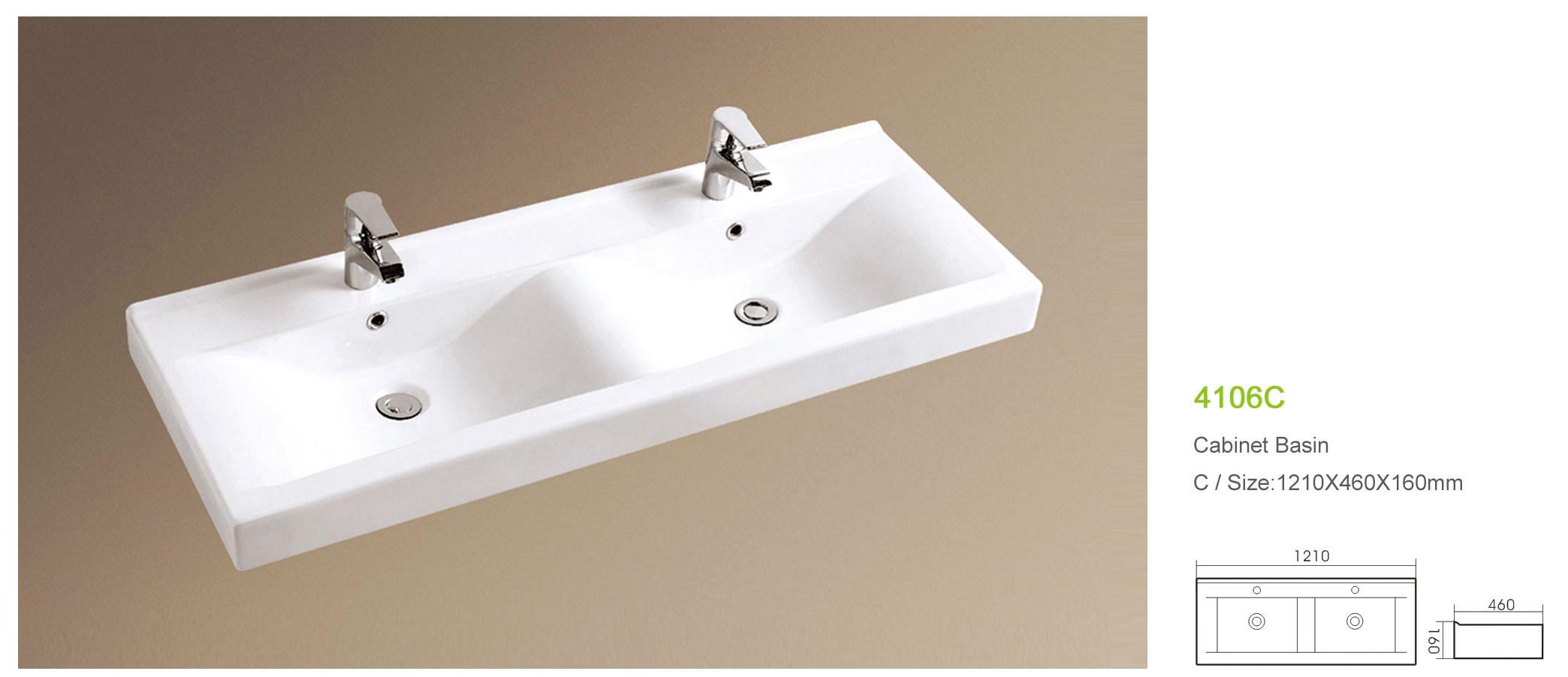 직사각형 더블 세면대 위생 큰 크기의 화장실 세면대-욕실 싱크 ...