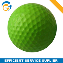 White Green Color Customized Small Sports Pu Golf Balls