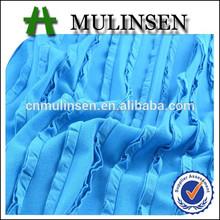 mulinsen textil de color sólido de punto nueva muestra de la arruga de musgo estirar la tela volante