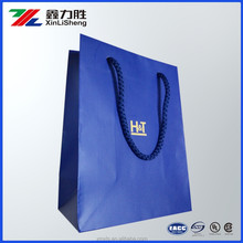 Embossed Custom Gold Stamp Printed Ribber Paper Bag with PP String Handles for Ornament Packing