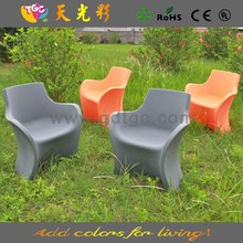 Newest design furniture plastic table and chairs multicolored plastic garden furniture