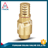brass valve with forged cw617n brass body with foot valve and copper core for water brass foot valve
