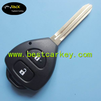 High quality 2 button car remote key shell with toy43 blade for toyota key fob case