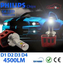 Qeedon plug & play auto headlight bulbs led phillips d4 9000lm