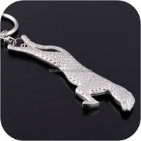 2014 Custom Cheap Zinc-alloy Cheetah Metal Keychain for gift