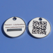 QR code supermarket trolley coin, shopping cart trolley coin, token trolley coin