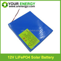 factory price rechargeable lifepo4 12v 9ah battery with bms for solar light