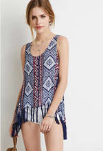 2015 New arrival wholesale woman top fashion tribal print lady top for lady
