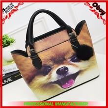 2015 hot selling cool cat print ladies shoulder handbags