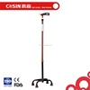 COSIN Decorative Walking Stick / Adjustable Quad Cane with Four Legs