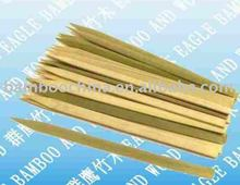 Green flat bamboo stick set