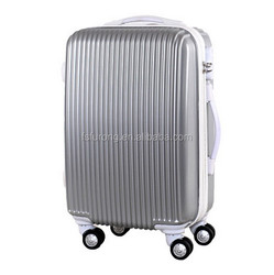 popular style cheap trolley plastic 3 pieces suitcase set aluminum trolley luggage set