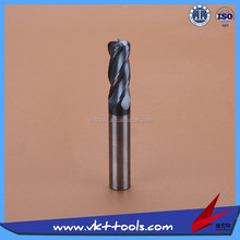 45HRC High precision Round nose Solid Carbide Milling Cutter High quality-----------12*75